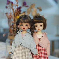 BJD doll zone suit 1/6 Over 14 years old Pre sale Light blue [in stock], pink [in stock] 6 points Top + T-shirt + suspender skirt + Socks 4 points nothing