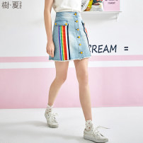 skirt Summer of 2019 S M L The sky is blue Short skirt commute Natural waist A-line skirt stripe 25-29 years old QN10290X More than 95% other Le Jardin dart / Shuxia cotton Retro Cotton 100% Pure e-commerce (online only) 251g / m ^ 2 (including) - 300g / m ^ 2 (including)
