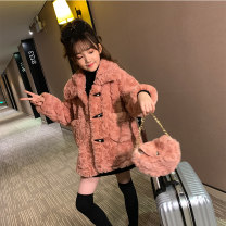 Plain coat Babu house female 110cm 120cm 130cm 140cm 150cm 160cm 170cm Pink off white light Khaki dm9597 black dm9621 off white dm9621 pink dm9622 black dm9622 coffee spring and autumn princess Single breasted There are models in the real shooting thickening Solid color other Crew neck DM9630 Class B