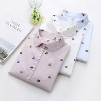 shirt Collar white, collar pink, collar blue, collar white, collar pink, collar blue, collar white (plush), collar Pink (plush), collar blue (plush), white black cat, light blue black cat, pink black cat S,M,L,XL Autumn 2020 cotton 96% and above Long sleeves commute Regular Polo collar routine other