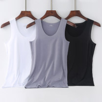 Vest / vest Youth fashion Others L [80-100kg], XL [100-120kg], 2XL [120-140kg], 3XL [140-160kg] Other leisure Self cultivation Vest thin summer Crew neck youth 2018 tide Solid color Socket Straight hem polyester fiber Polyester 92% polyurethane elastic fiber (spandex) 8% No iron treatment Rough edge