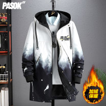 Windbreaker Pasok Youth fashion L XL 2XL 3XL 4XL zipper Medium length standard Other leisure spring teenagers Hood (not detachable) tide Cotton 100% camouflage No iron treatment Digging bags with lids other Decorative loop cotton Winter of 2019 Pure e-commerce (online only) More than 95%