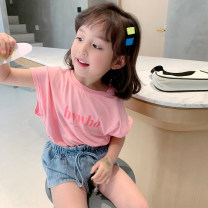 T-shirt Pink, fruit green EYAE KIDS 90cm,100cm,110cm,120cm,130cm,140cm female summer Short sleeve Crew neck leisure time There are models in the real shooting nothing cotton other Cotton 95% other 5% T0246 Class B other Three, four, five, six, seven, eight, nine Chinese Mainland Zhejiang Province