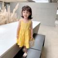 Dress yellow female EYAE KIDS 90cm,100cm,110cm,120cm,130cm,140cm Cotton 90% other 10% summer Korean version Skirt / vest Solid color cotton other Q0291 Class B Three, four, five, six, seven, eight, nine Chinese Mainland Zhejiang Province Hangzhou