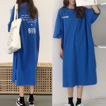 Nightdress Other / other M,L,XL,2XL,3XL,4XL Simplicity Short sleeve Leisure home longuette summer letter youth Crew neck other printing Less than 20% other 240g