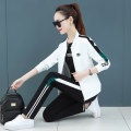 Casual suit Spring 2021 White / green pants [three piece set] leather / white pants [three piece set] red / white pants [three piece set] black / green pants [three piece set] M L XL 2XL 3XL 25-35 years old Y-20172 singing without instrumental accompaniment Pure e-commerce (online only)