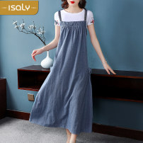 Dress Summer of 2019 Average size Mid length dress singleton  street middle-waisted Socket straps 25-29 years old isaly More than 95% other Other 100% Europe and America