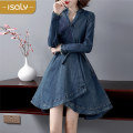 Dress Autumn of 2018 Picture color S M L XL Middle-skirt singleton  Long sleeves street V-neck middle-waisted Socket routine Breast wrapping 25-29 years old isaly LY2725 More than 95% other Other 100% Europe and America