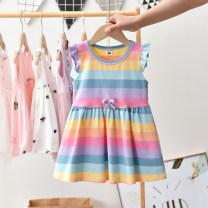 Dress Light blue sleeveless rainbow vest skirt (with wings), x17028 pink little white skirt, x17028 light blue little white skirt, X0502 red skirt, X0502 light blue skirt, x6669 white suspender skirt, x6669 Navy suspender skirt, y1106 pink skirt, y1106 yellow skirt female Thepigbaby summer stripe