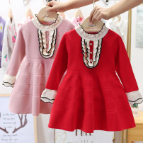 Sweater / sweater cotton female Other / other princess No model Socket routine stand collar nothing Ordinary wool Solid color Class B 2 years old, 3 years old, 4 years old, 5 years old, 6 years old Chinese Mainland