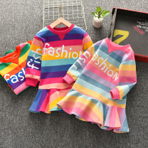 Dress female Thepigbaby 73cm,80cm,90cm.,100cm.,110cm.,120cm.,130cm.,140cm. Cotton 90% other 10% spring and autumn Korean version Long sleeves stripe cotton A-line skirt xy1860 Class B 2 years old, 3 years old, 4 years old, 5 years old, 6 years old Chinese Mainland Guangdong Province Foshan City