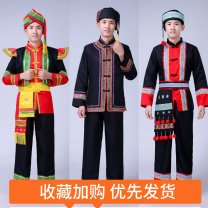 National costume / stage costume Spring of 2018 Black, red, green