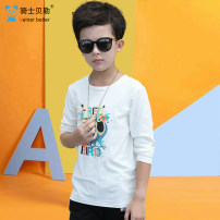 T-shirt Knight Baylor 130cm 140cm 150cm 160cm 170cm 180cm male spring and autumn Long sleeves Crew neck leisure time There are models in the real shooting nothing other other Cotton 94% polyurethane elastic fiber (spandex) 6% Class B Fall 2017
