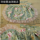 apron 9613 white lace 9613 pink lace blue and white porcelain half body lace blue and white porcelain right angle belt length 65cm 9718 blue and white porcelain Neck Lace 9718 garden green flower Neck Lace antifouling Korean version canvas Personal washing / cleaning / care Average size Shia Mandi