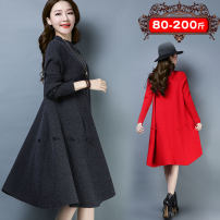 Dress Winter 2020 Dark grey, black, red, blue M (recommended 80-110 kg), l (recommended 110-135 kg), XL (recommended 135-155 kg), 2XL (recommended 155-175 kg), 3XL (recommended 175-200 kg), [size selection should be based on chest circumference], [slim new products, buy early discount] longuette