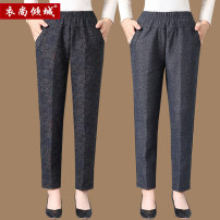 Middle aged and old women's wear Autumn 2020 Black and grey XL [recommended 80-100 kg] 2XL [recommended 100-120 kg] 3XL [recommended 120-140 kg] 4XL [recommended 140-160 kg] fashion trousers easy singleton  Decor Over 60 years old thick YSQC-3892 City of clothes other Other 100% 96% and above