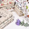 Fabric / fabric / handmade DIY fabric hemp Loose shear piece Plants and flowers printing and dyeing Sofa fabric Countryside Happy fate of Art YHMM