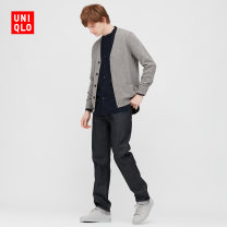 T-shirt / sweater UNIQLO / UNIQLO other 04 smoke grey 08 dark grey 09 black 69 Navy 160/76A/XS 165/84A/S 170/92A/M 175/100A/L 180/108B/XL 185/112C/XXL 185/120C/XXXL 185/128C/XXXXL Cardigan V-neck Long sleeves UQ429069000 winter 2020 Wool 100% Winter 2020