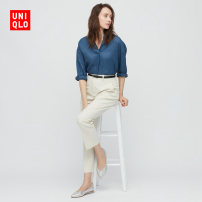 Low top shoes 37 37.5 38 38.5 39 40 41 42 UNIQLO / UNIQLO 81 Silver Sharp point PU Flat bottom Flat heel (1cm or less) Shallow mouth No interior Spring 2021 Youth (18-40 years old) Single shoes leisure time UQ437082000 Same model in shopping mall (sold online and offline)
