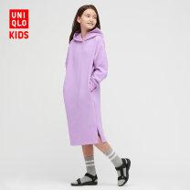 Dress 03 gray 09 black 71 light blue purple female UNIQLO / UNIQLO 110/56 120/60 130/64 140/64 150/72 160/76 Cotton 48% polyester 47% polyurethane elastic fiber (spandex) 5% spring and autumn other other UQ433510000 Spring 2021