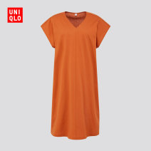 Dress Summer 2020 03 gray 09 black 26 orange 66 blue 150/76A/XS 155/80A/S 160/84A/M 160/88A/L 165/92A/XL 170/100B/XXL Mid length dress 25-29 years old UNIQLO / UNIQLO UQ426493000 More than 95% cotton Cotton 100% Same model in shopping mall (sold online and offline)