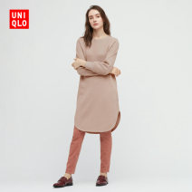 Dress Spring 2021 150/76A/XS 155/80A/S 160/84A/M 160/88A/L 165/92A/XL 170/100B/XXL Mid length dress 25-29 years old UNIQLO / UNIQLO 51% (inclusive) - 70% (inclusive) cotton Cotton 60% polyester 40% Same model in shopping mall (sold online and offline)