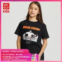 T-shirt 09 black UNIQLO / UNIQLO 110/56 120/60 130/64 140/68 150/72 160/76 neutral summer Cotton 100% UQ426269000 Summer 2020 3 years old, 4 years old, 5 years old, 6 years old, 7 years old, 8 years old, 9 years old, 10 years old, 11 years old, 13 years old, 14 years old