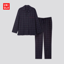 Pajamas / housewear set male UNIQLO / UNIQLO 160/76A/XS 165/84A/S 170/92A/M 175/100A/L 180/108B/XL 185/112C/XXL 185/120C/XXXL 185/128C/XXXXL 69 Navy cotton winter Cotton 100% Winter of 2019 Cotton 100%