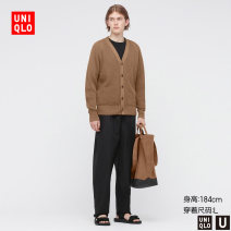 T-shirt / sweater UNIQLO / UNIQLO other 09 black 30 light beige 34 Camel 160/76A/XS 165/84A/S 170/92A/M 175/100A/L 180/108B/XL 185/112C/XXL Cardigan V-neck Long sleeves UQ437347000 spring 2021 Polyester 65% cotton 35% Spring 2021 Same model in shopping mall (sold online and offline)