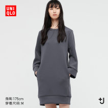 Dress Spring 2021 08 dark grey 09 black 150/76A/XS 155/80A/S 160/84A/M 160/88A/L 165/92A/XL 170/100B/XXL Mid length dress 25-29 years old UNIQLO / UNIQLO UQ437797000 71% (inclusive) - 80% (inclusive) polyester fiber Same model in shopping mall (sold online and offline)