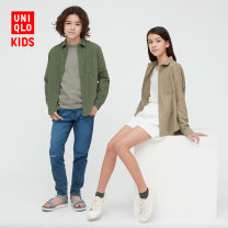 shirt UNIQLO / UNIQLO neutral 110cm 120cm 130cm 140cm 150cm 160cm spring and autumn Long sleeves other cotton Cotton 100% Spring 2021