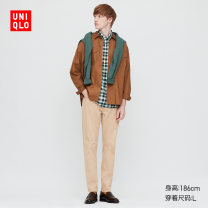 Casual pants UNIQLO / UNIQLO other 32 Dark Beige 160/64A/XS 165/72A/S 170/80A/M 175/88A/L 180/96B/XL 185/104C/XXL 185/112C/XXXL 185/120C/XXXXL trousers Other leisure Tight fitting UQ422368669 spring 2020 Cotton 97% polyurethane elastic fiber (spandex) 3% Spring 2020