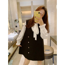 Suit / Blazer Parent child soft shirt , Parent child suit vest 80cm , 100cm , 110cm , 130cm , 140cm , 150cm , 90cm (lucky photo code) , 120cm (Amy life size) , Mom's one size fits all Amybaby female There are models in the real shooting Korean version Solid color Single breasted routine other other