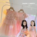 Dress Princess poncho skirt, two false gauze skirts female Amybaby 80cm, 90cm, 100cm, 120cm, 130cm, 150cm, 110cm (Baoer photo code), 140cm (Amy life code) Other 100% summer princess Short sleeve other other Princess Dress Colorful sequined princess skirt other