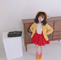 suit Other / other Hat, shirt, suspender, skirt, sweater, cardigan 90cm,100cm,110cm,120cm,130cm,140cm female spring and autumn solar system other 4 pieces or more routine No model Single breasted Detachable cap Cartoon animation cotton children Expression of love Chinese Mainland