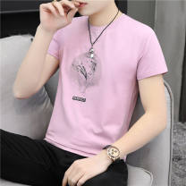 T-shirt Youth fashion routine M,L,XL,2XL,3XL Tagkita / she and others Short sleeve Crew neck standard daily summer teenagers Youthful vigor