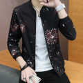 Jacket WEWECOCO Youth fashion 165/M 170/L 175/XL 180/XXL 185/3XL thin Self cultivation Other leisure spring WE18AJK888 Polyester 100% Long sleeves Wear out Baseball collar tide teenagers short Zipper placket Rib hem No iron treatment Closing sleeve other Spring of 2018 Rib bottom pendulum