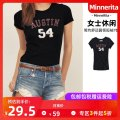 T-shirt S M L XL Summer of 2018 Short sleeve Regular other 96% and above MinneRita Other 100%