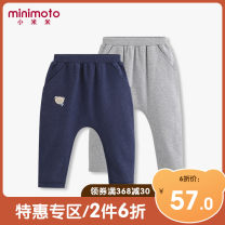 trousers Minimoto / millet neutral 73cm 80cm 90cm 100cm 110cm No season trousers leisure time No model Big PP pants Leather belt middle-waisted Cotton blended fabric Don't open the crotch Cotton 93.4% polyurethane elastic fiber (spandex) 6.6% Class A Autumn of 2019 Chinese Mainland Guangdong Province