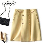 skirt Spring 2021 S,M,L Navy, goose yellow Short skirt commute High waist A-line skirt Solid color Type A T031307S 71% (inclusive) - 80% (inclusive) Internal / etana polyester fiber Pocket, zipper Simplicity