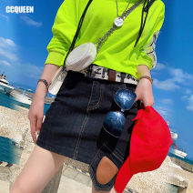 skirt Spring 2021 160/68A/S 165/72A/M 170/76A/L black Short skirt Natural waist 25-29 years old SBC03xx 71% (inclusive) - 80% (inclusive) Ccqueen cotton Cotton 73.5% polyester 24.9% polyurethane elastic fiber (spandex) 1.6%