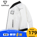 Jacket Mark Fairwhale / mark Warfield Youth fashion white 170/M 175/L 180/XL 185/XXL 190/XXXL routine Self cultivation Other leisure autumn Polyester 100% Long sleeves Wear out Baseball collar tide youth routine Zipper placket Rib hem No iron treatment Closing sleeve Solid color Spring 2021