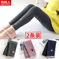 trousers NGGGN female 100cm 110cm 120cm 130cm 140cm spring and autumn trousers leisure time There are models in the real shooting Plush trousers Leather belt middle-waisted Cotton blended fabric Don't open the crotch Cotton 97.4% polyurethane elastic fiber (spandex) 2.6% 36W088 36W088-11