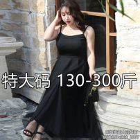 Women's large Summer 2020 Black (priority for collection) 6xl (recommended 210-240 kg), 4XL (recommended 150-180 kg), 5XL (recommended 180-210 kg), 7XL (recommended 240-270 kg), 8xl (recommended 270-300 kg) Dress commute Self cultivation Solid color nylon 25-29 years old backless other straps
