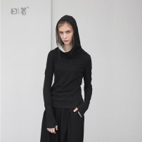 Wool knitwear Fall 2017 1XL M L Black Long sleeves singleton  Socket cotton More than 95% Regular routine commute Self cultivation Hood routine Solid color Socket Simplicity 16Q1552T 25-29 years old The sun is shining Cotton 95% polyurethane elastic fiber (spandex) 5% Pure e-commerce (online only)