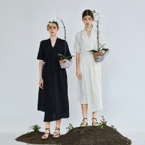 Dress Spring 2021 Origin white, origin black S M L XL Mid length dress Two piece set Long sleeves other High waist other other routine 25-29 years old Type H The sun is shining 21C1400L 51% (inclusive) - 70% (inclusive) other cotton Cotton 52% viscose (viscose) 48% Pure e-commerce (online only)