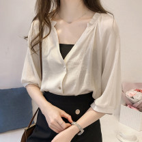Lace / Chiffon Summer 2020 Apricot (now order for breast wrapping), white (now order for breast wrapping) S,M,L,XL,2XL commute easy V-neck Solid color routine 25-29 years old Korean version