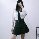 skirt Spring 2021 XS,S,M,L,XL black Short skirt Versatile High waist A-line skirt Solid color Type A 18-24 years old G19101403 pocket