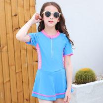 Children's swimsuit / pants Love of dripping water L(110-120CM),XL(120-130CM),2XL(130-140CM),3XL(140-150CM) Blue, pink Children's Bikini, children's one-piece swimsuit, children's split swimsuit children polyester fiber
