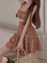 Fashion suit Summer 2021 Average size Sling, skirt 18-25 years old Four point eight